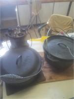 Cast iron dutch ovens