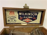 Old Wilkinson Razor in Original Oak Box