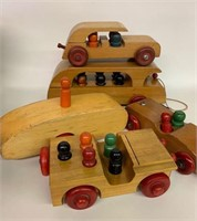 Early Wooden Childs Toy Autos