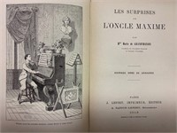 2 Early French Hardcover Books