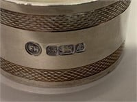 Pair of Fine Sterling Silver Napkin Rings in Case