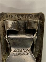 B & N Nastagio Silver Plated Tie Clip