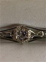 Antique Ladies 18kt Gold/Diamond Brooch