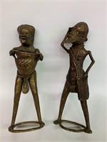 Pair of Very Old Bronze Figures