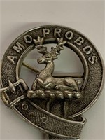 Antique AMO PROBOS Scottish Clan Pin