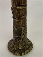 Antique Bronze Figure on Palm Tree