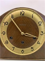 Fine Bertmar Walnut Case Mantle Clock