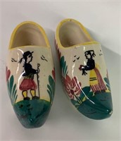 Pair of Hand Painted Porcelain HB Guimper Shoes