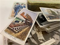 Collection of Old Cigarette Cards and Tin
