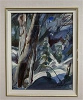 Framed Waterclour Winter Scene Signed Taggart