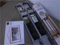 Grp, of Housewares - Curtain Rods, Photo Frame,