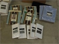 Large Box of Assorted Curtain Panels and Valences