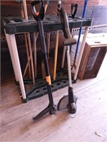 Grp, of Assorted Garden Tools and Tool Organizer,