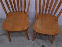 (2) Wooden Dining Chairs