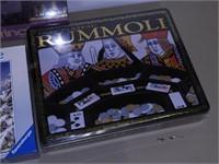 (2) Puzzles and Rummoli Tray