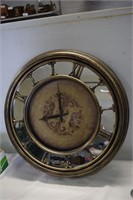 """Mirrored 22"""" Wall Clock- works"""