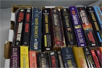 Box of Paperback Mystery Books