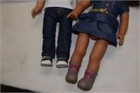 "18"" Boy & Girl Dolls American Girl Style"