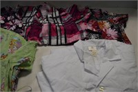 Scrub Tops (used) & Lab Coat (new)