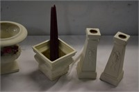 Ceramic Vases and Candle Sticks