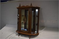 Lead Glass Curio Cabinet with Glass Shelves