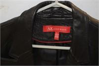 Anne Klein Leather Blazer Size L