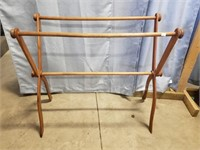 Folding Linen Rack With Magazine Holder. Rack