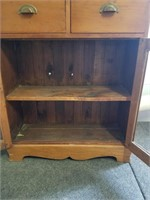 Small Shelving Unit With Doors No Glass.