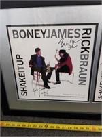 Boney James & Rick Braun Signed Photo In Glass