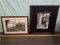 """Two Piece Photo Lot. Front Door Scene 25-3/4"""" X"""