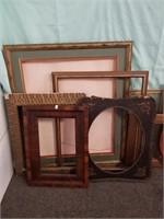 Multiple Vintage Frames. Right Side Of Lot Have