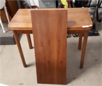 """Folding Table With Leaf Table Is 40"""" L X 40"""" W X"""