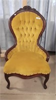 Vintage Parlor Chair. Fabric In Good Shape