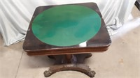 Vintage Turn Over Games Table