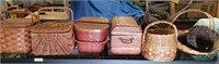 Lot Of 8 Baskets Of Various Shapes And Sizes.
