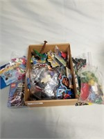 Box Full Of Lego Bits And Other Toys.
