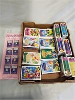 Disney Cartoon Toys In Mini Vhs Box Display. Snow