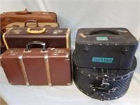Rustic/vintage Travel Cases Lot. 7 Pcs Total