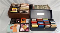 Lot Of Vinyls And 8 Track Tapes