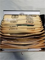 Three File Folders Full Of Magazine Clippings/
