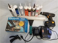 18v Mastercaft Drill With Charger, Tubes Of