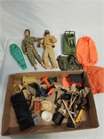 Boys Doll Lot With Accessories.