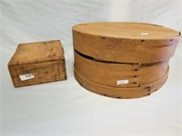 Shamrock Vintage Wooden Box And Cheese Crate.
