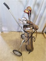 Full Set Up Golf Bag And Clubs. Great Starter Set