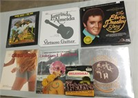 Lot Of Vinyls Including The Elvis Presley Story.