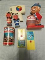 Vintage Bobble Heads, Fisher Price Toys, Labatt's