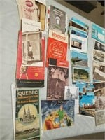 Large Lot Of Travel Post Cards, Maps, Tour Flyers