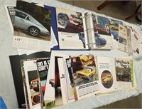 Lot To Include Large Binder Full Of Vintage Car