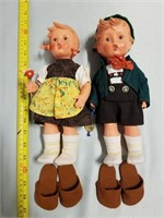 Goebel Large Dolls. Boy And Girl. All Pieces