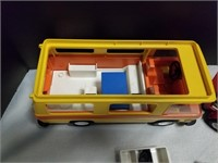 Playmobil Camper And Racing Truck And Trailer,